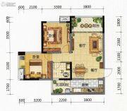 九腾1街区2室2厅1卫74平方米户型图