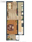 金域蓝湾1室1厅1卫52--54平方米户型图