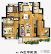 泰禾红桥3室2厅2卫89平方米户型图