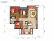 蓝光圣菲悦城3室2厅2卫88平方米户型图