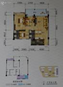 碧海新城3室2厅2卫95平方米户型图