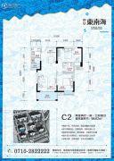 荣华东南海2室2厅1卫98平方米户型图