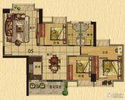 香樟美地3室2厅2卫106平方米户型图