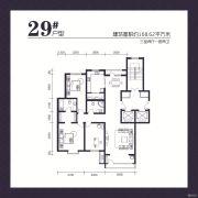 建发宝湖湾3室2厅2卫0平方米户型图