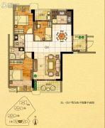 金紫世家3室2厅2卫112平方米户型图