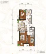 金域蓝山3室2厅1卫0平方米户型图