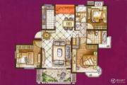 锦绣华都3室2厅2卫135平方米户型图