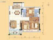 科恒岭南水岸3室2厅2卫89平方米户型图