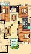 鸿泰华府3室2厅2卫131平方米户型图