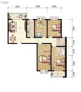 山海城邦・马街摩尔城4室2厅2卫164平方米户型图
