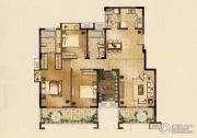九龙仓时代上城3室2厅2卫143平方米户型图