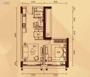永润广场1室2厅1卫62平方米户型图