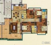 珠光流溪御景4室2厅3卫167平方米户型图