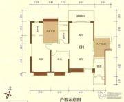 香槟花园3室2厅2卫90--140平方米户型图