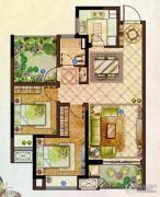 龙湖龙誉城2室1厅1卫88平方米户型图