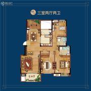 万科蓝山3室2厅2卫127平方米户型图