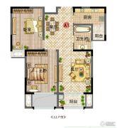新田城2室2厅1卫88平方米户型图