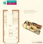 廊坊孔雀城・公园海1室0厅1卫29平方米户型图