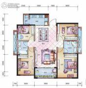 山湖海・上城4室2厅2卫0平方米户型图