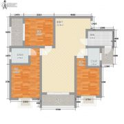 捷恒・悦城3室1厅2卫93平方米户型图