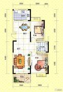 苏通国际新城2室2厅1卫98--103平方米户型图