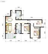 山海城邦・马街摩尔城3室2厅1卫112平方米户型图