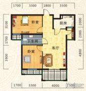 海德公园2室2厅1卫85--87平方米户型图