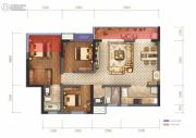 蓝光圣菲悦城3室2厅2卫95平方米户型图