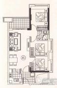 北部万科城3室1厅1卫0平方米户型图