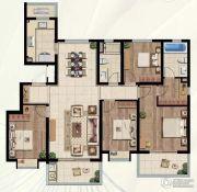 中海玄武公馆4室2厅2卫143平方米户型图