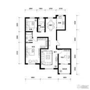 汉森香榭里3室2厅2卫138平方米户型图