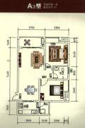 瑞鼎嘉城2室2厅1卫77--78平方米户型图