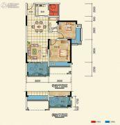 置信凯旋国际2室2厅1卫69--73平方米户型图