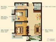 阳光首院2室2厅1卫81平方米户型图