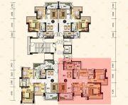 中澳滨河湾3室2厅3卫136平方米户型图
