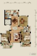 赞成香林3室2厅2卫118平方米户型图