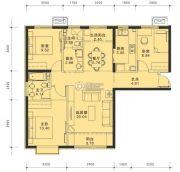 蓝泽・大金城3室2厅2卫0平方米户型图