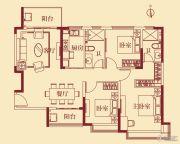 恒大翡翠华庭3室2厅2卫135平方米户型图