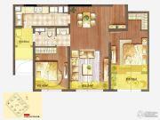 朗诗绿色街区2室2厅1卫85平方米户型图
