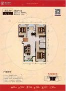 宏宇亚龙湾3室2厅2卫117平方米户型图