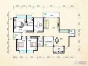 金水湾境界4室2厅2卫168平方米户型图