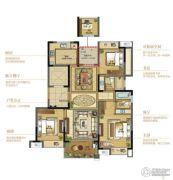 复地江城国际4室2厅2卫118平方米户型图