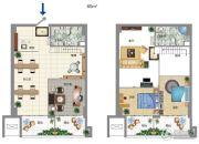 大宏城市广场3室1厅2卫60平方米户型图