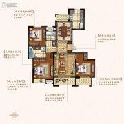 盛和花半里3室2厅2卫141平方米户型图