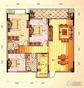 未来城11号3室2厅2卫128平方米户型图