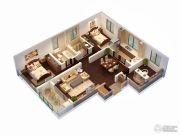 朗诗天萃3室2厅1卫119平方米户型图
