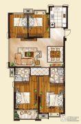 山水华庭4室2厅2卫125平方米户型图