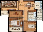 长申玉3室2厅1卫123平方米户型图
