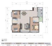医大广场3室2厅2卫123平方米户型图