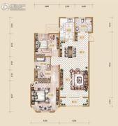 海宁湾2室2厅2卫127平方米户型图